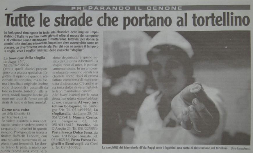 City Bologna, dicembre 2002
