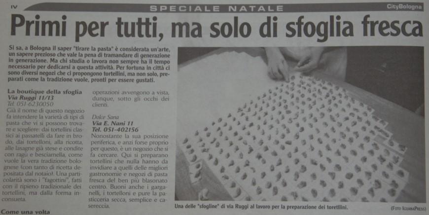 City Bologna, dicembre 2003